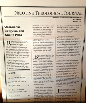 Nicotine Theological Journal